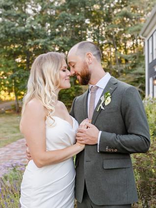 Eric & Emily's September Garden Wedding: Cape Neddick, Maine