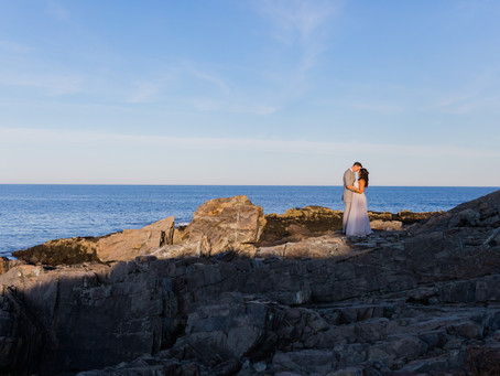 Kevin & Crystal's Seaside Maine, Backyard Wedding