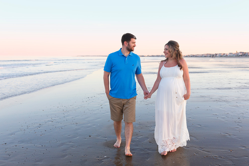 Wells Maine Maternity Beach Portraits