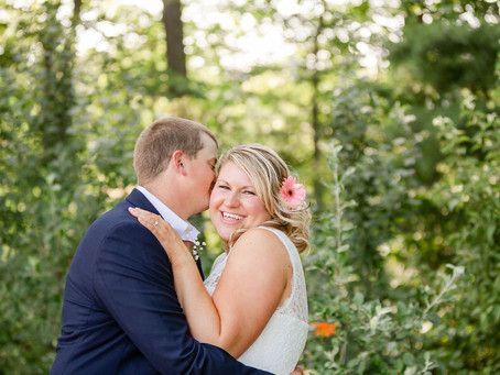 Emily & Dave's Intimate Backyard Wedding with Reception at the Falmouth Country Club