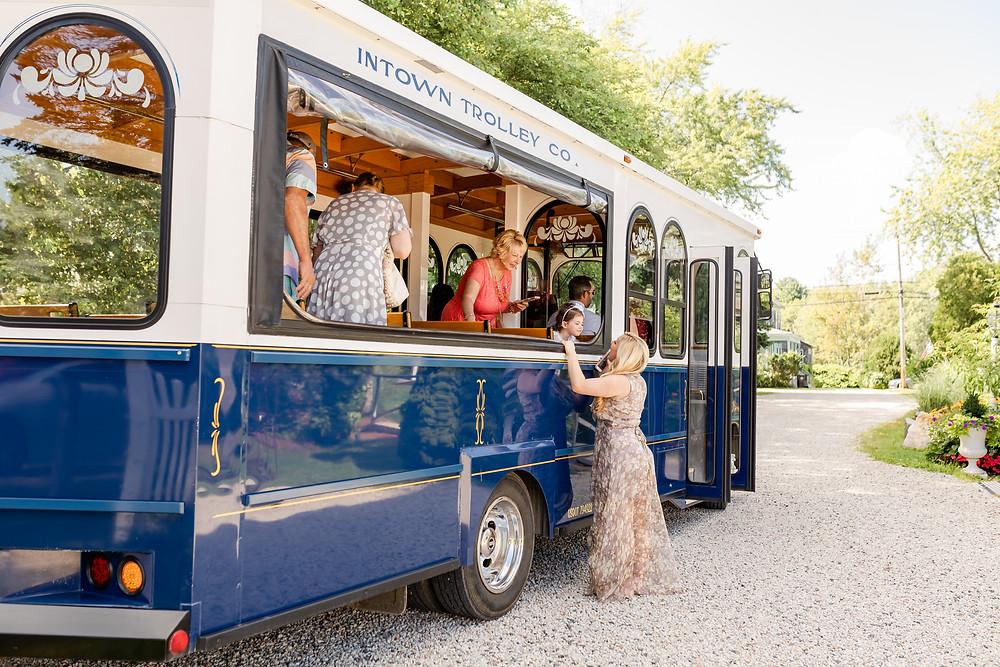 In town Trolley Wedding