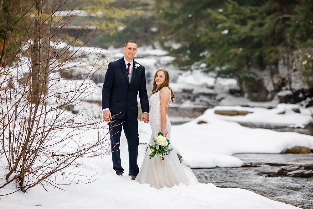 Jackson Falls Winter Wedding New Hampshire