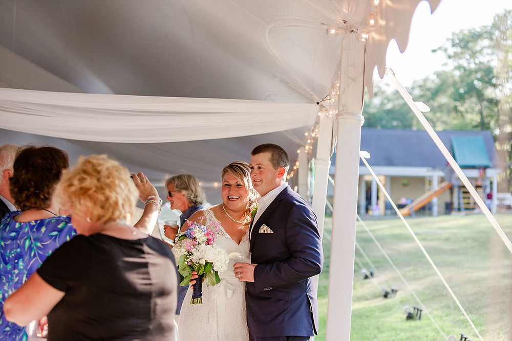 Wedding photographer in Falmouth Maine