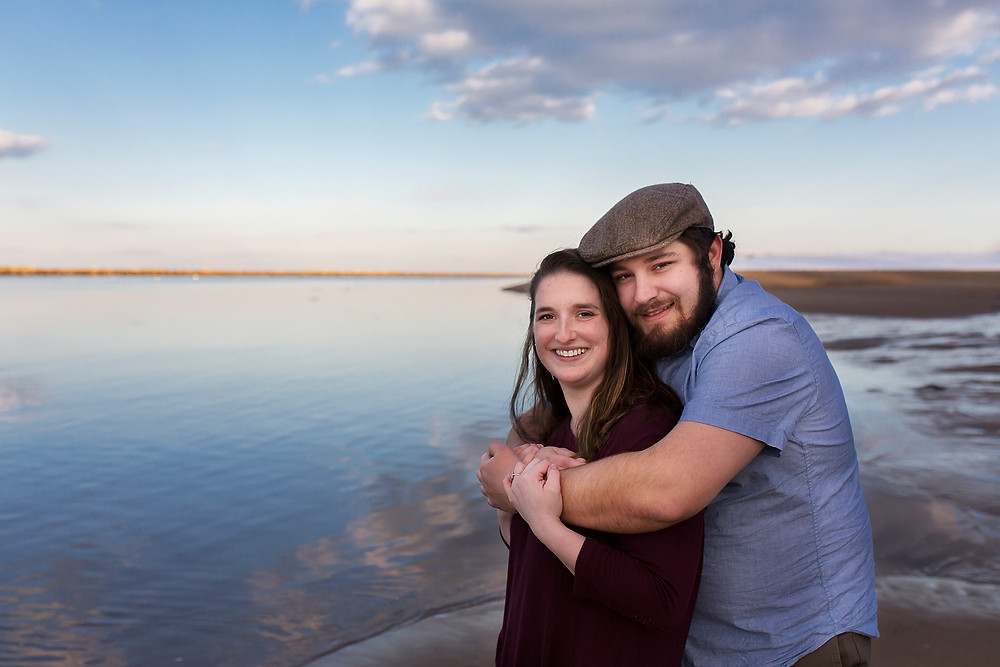 Winter Engagement Session In Biddeford Maine