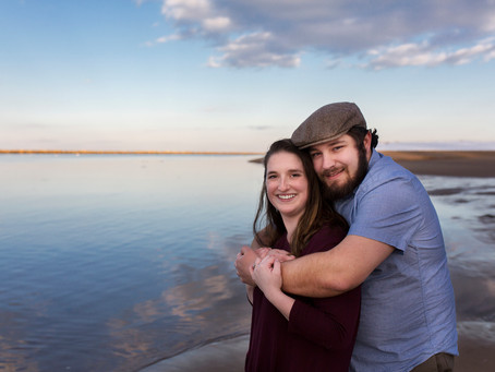 Winter Engagement Session in Biddeford, Maine