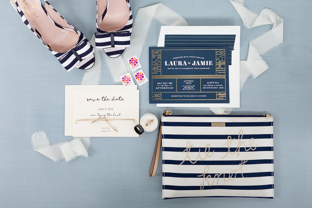 Camden Maine Wedding Invitations with a Nautical look