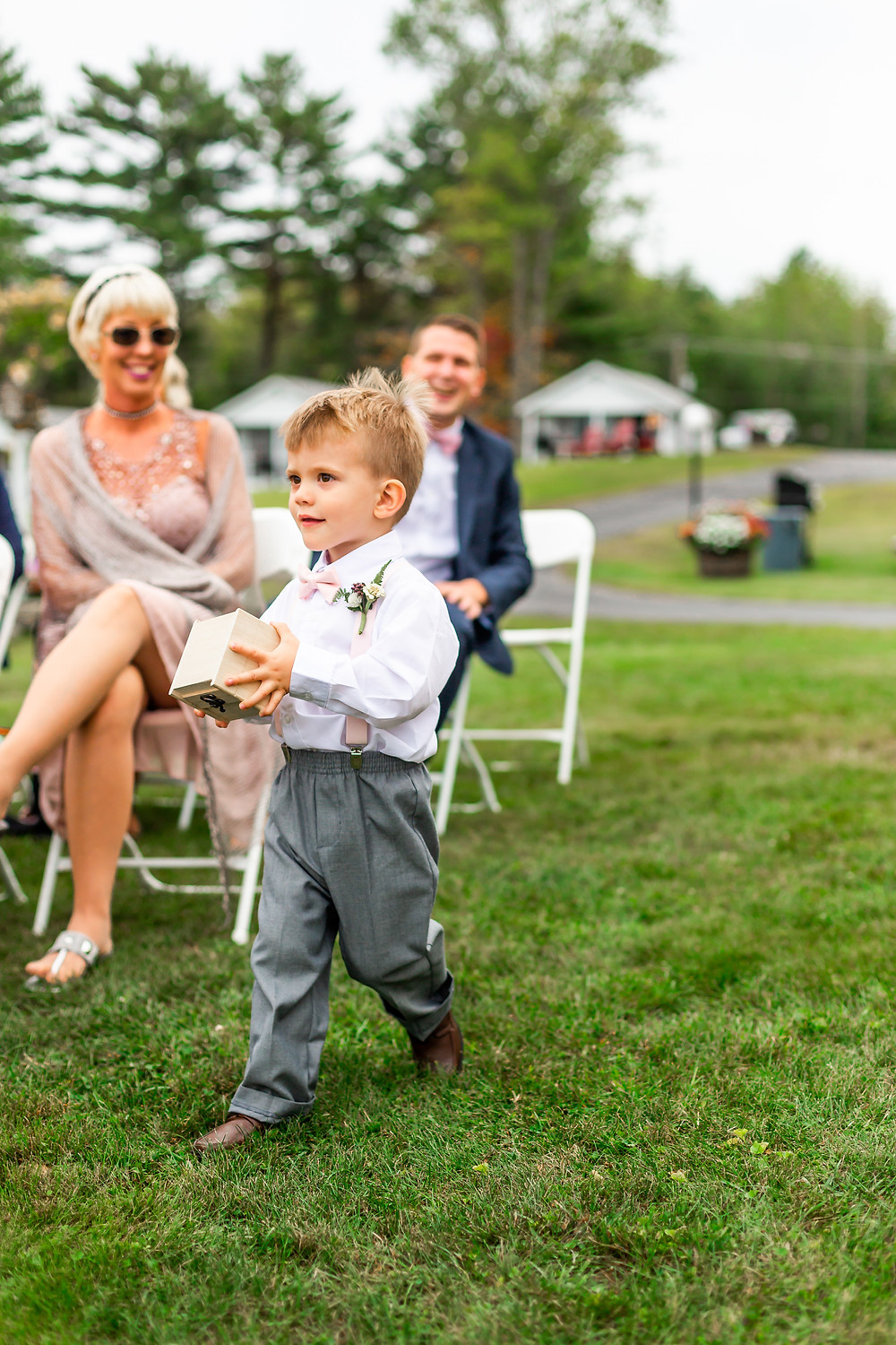 Little ring bearer in Laconia new Hampshire.