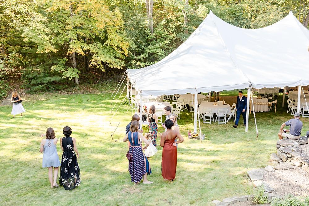 Backyard Maine Wedding