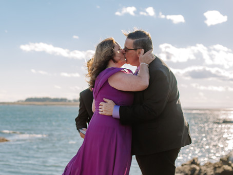 Intimate Wedding at Kettle Cove and Village By The Sea, Wells, Maine
