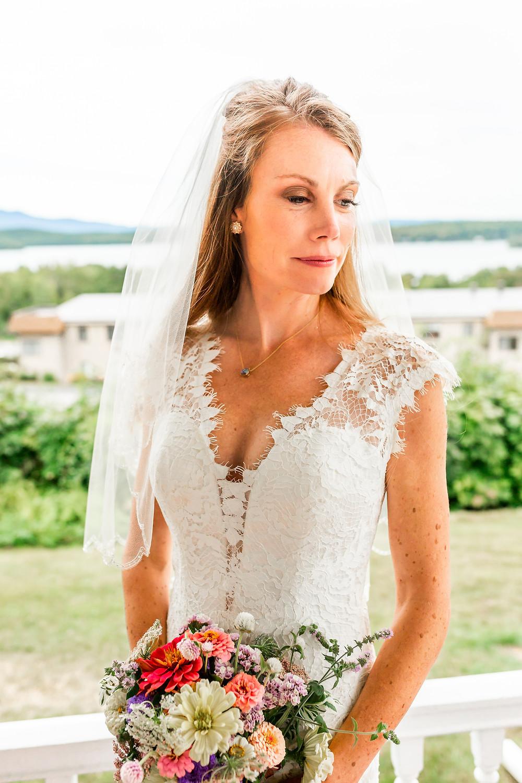 Laconia New Hampshire photographer captures a lovely bridal portrait.
