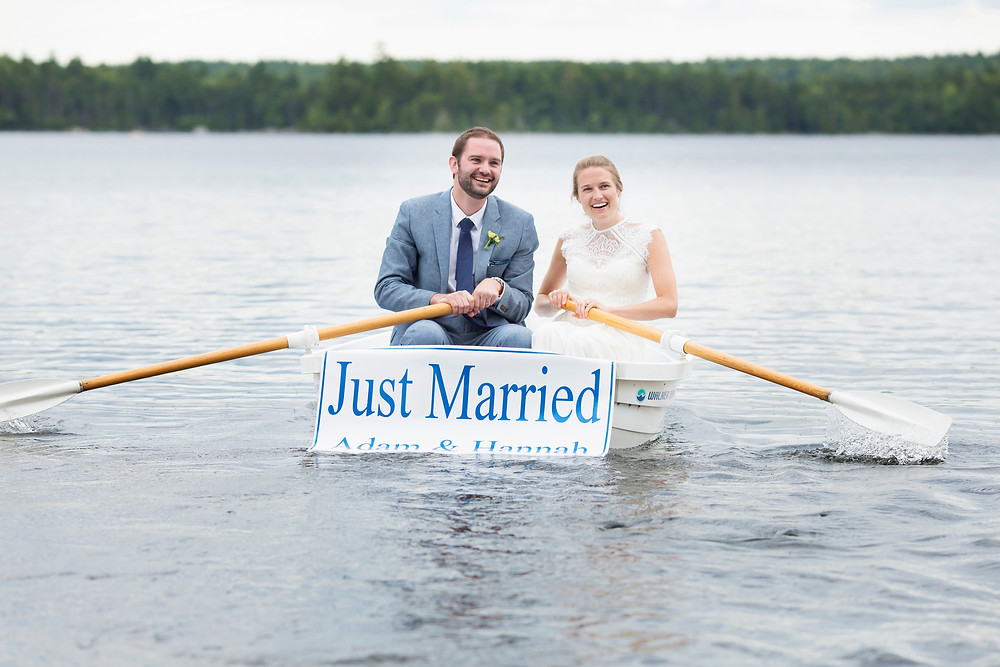 Lakeside wedding elopement in Maine