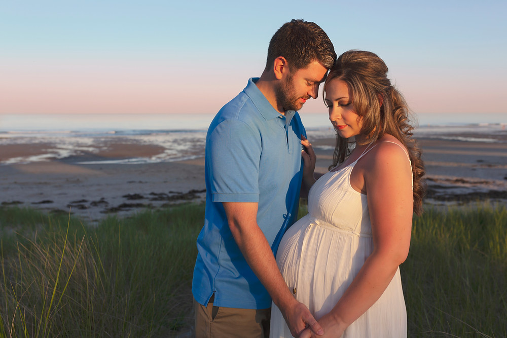 Maine Beach Maternity Photographer
