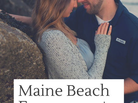 Wells Maine Beach Engagement Photographer
