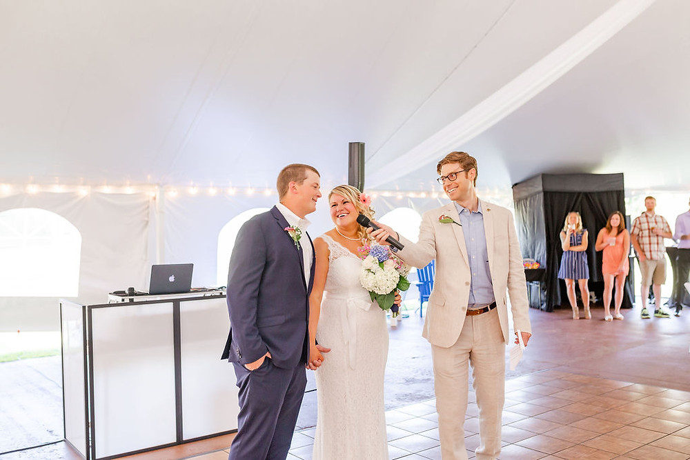 Falmouth Country Club Tent Wedding