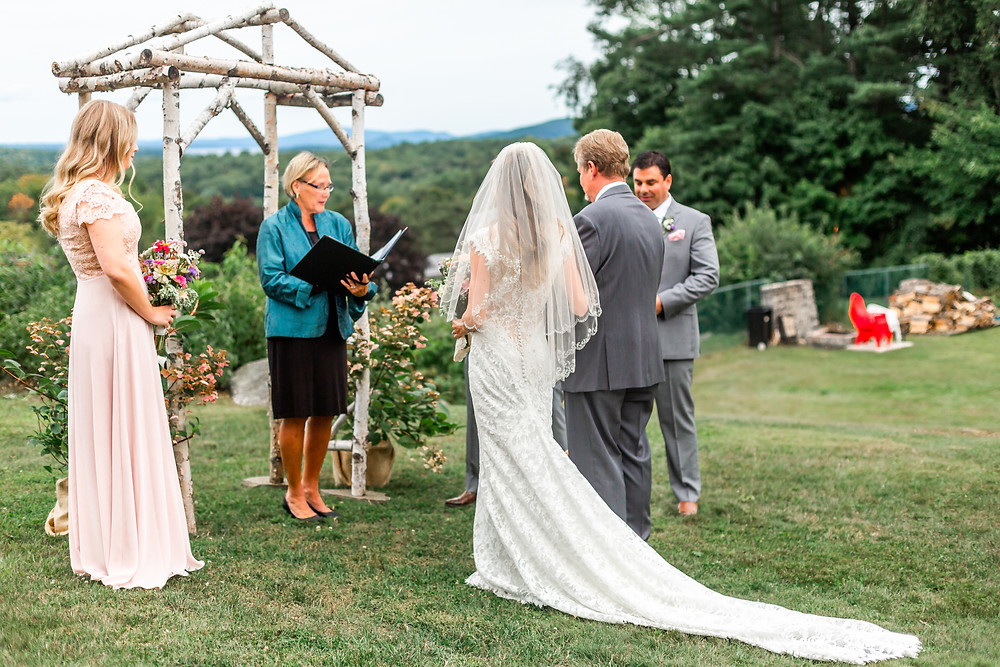 Wells Maine Wedding Photographer captures photos of an intimate wedding in New Hampshire.