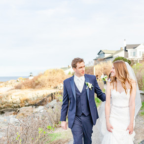 Nora & Chris: Intimate Ogunquit, Maine Wedding at the Heartwell House and marginal way.