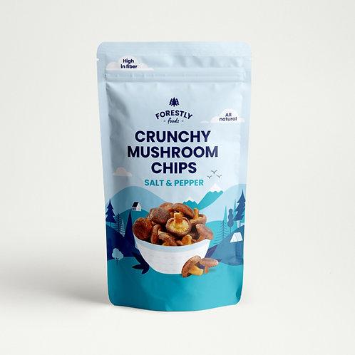 Shiitake Mushroom Chips - Salt & Pepper