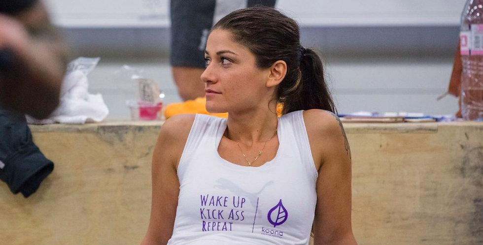 Women's Wake Up, Kick Ass Tanktops
