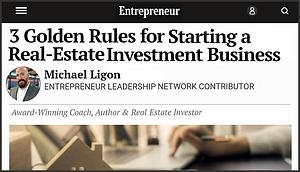 Entrepreneur Magazine 3 Rules - Ligon Brothers