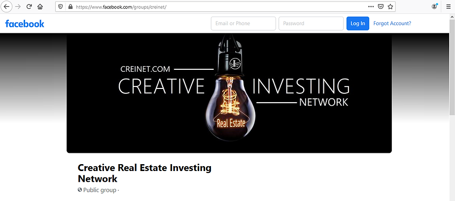 Creative Real Estate Investing Network - Facebook Group