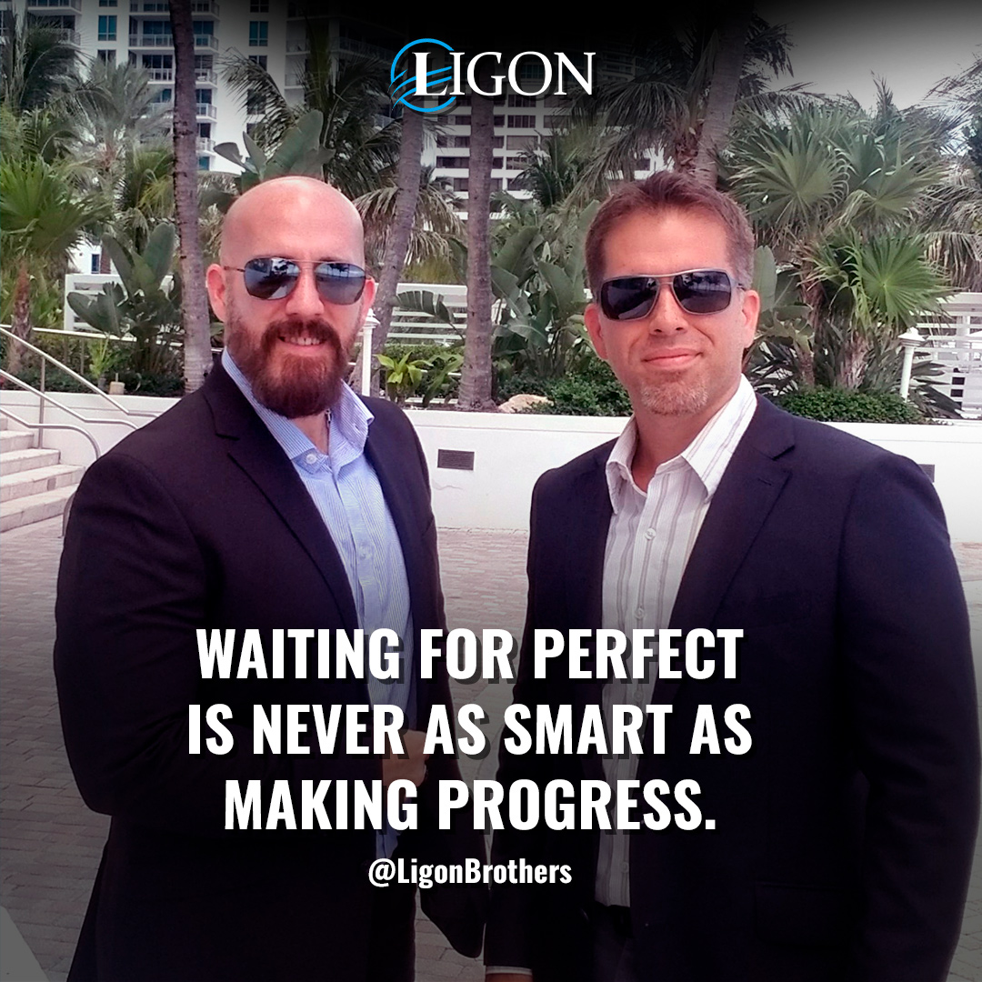 Michael Ligon and David Ligon tell students to never wait for the perfect time.