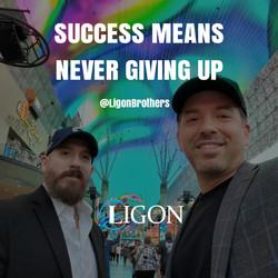Ligon Brothers, Michael Ligon and bother David Ligon speak about success and never giving up.