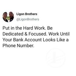 The Ligon Brothers give advice on hard work.