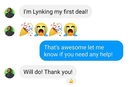 Message about LYNKing Deals