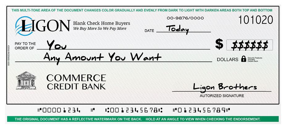 Ligon Brothers Blank Check Home Buyers Program