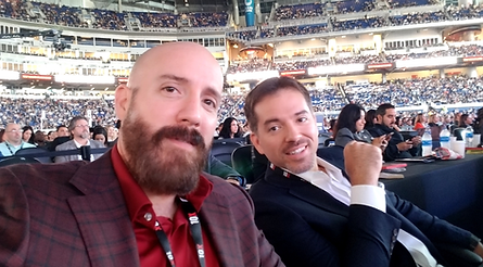 The Ligon Brothers sit front row at the 10x growth conference in miami Florida.