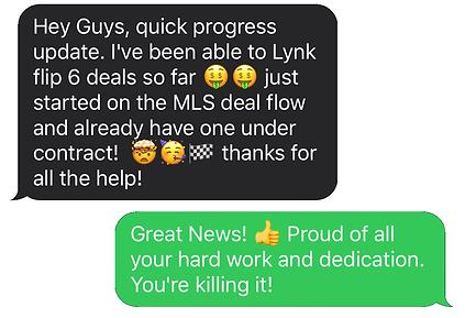 Message about doing Deals