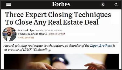 Three Expert Closing Tactics - Forbes - Ligon Brothers