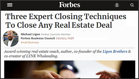 3 Expert Closing Techniques - Ligon Brothers - Forbes
