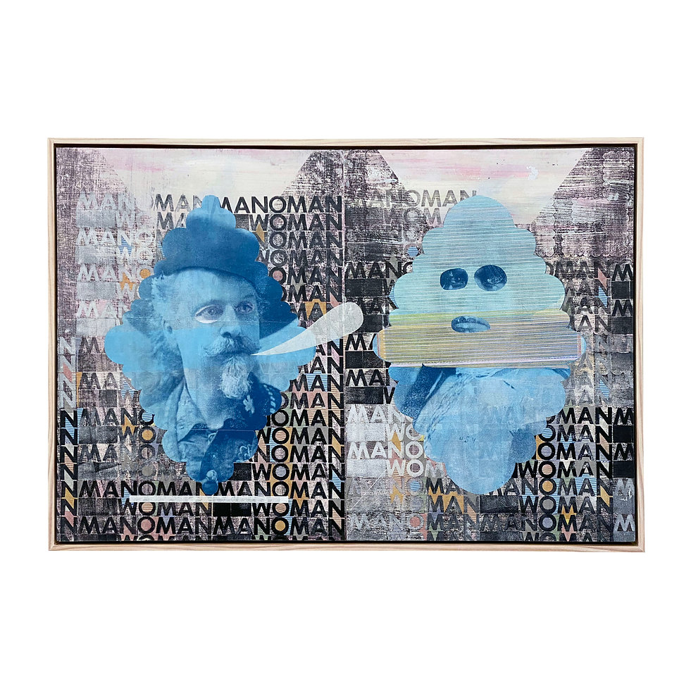 Screen print, Large Screen print, Illustration, Collage, Chadwick Tolley, PInterest Screen Print