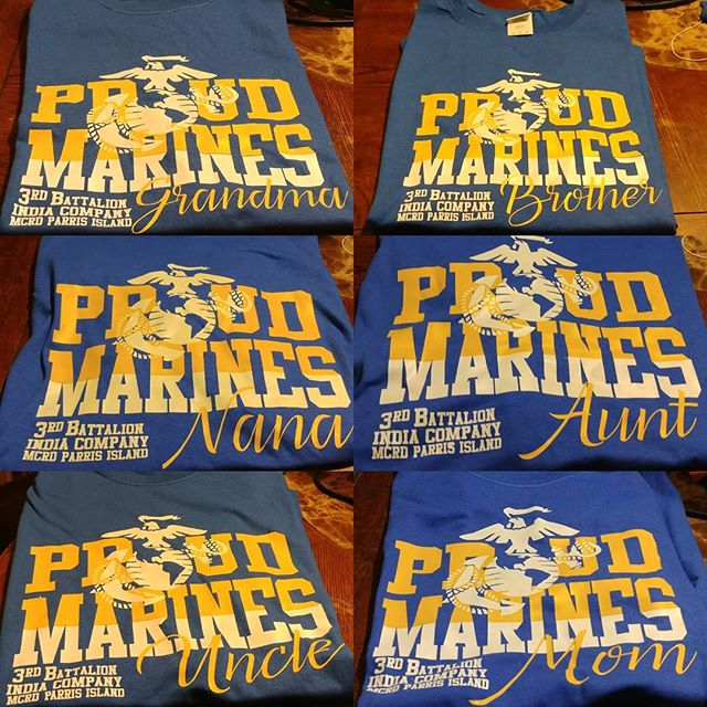 Proud Marine Custom _What are you waiting on to get your custom shirt___#andreakedesigns #military #