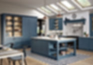 Keele kitchen in airforce blue shaker door