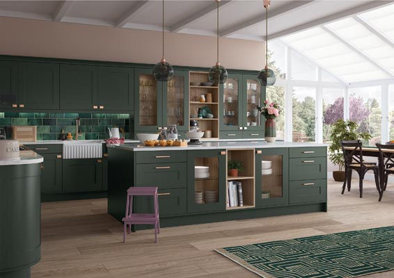 Dark Green Kitchen