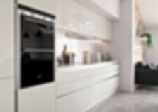 Cream and Graphite Kitchen
