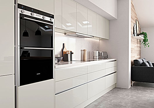 Cream and Graphite Kitchen