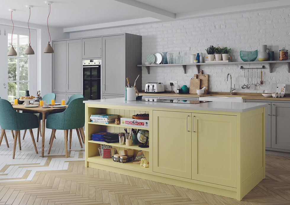 custom kitchen colour
