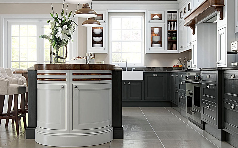 Elegance Light Grey and Dark Grey Kitchen