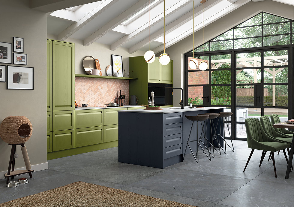 Green & Blue Kitchen