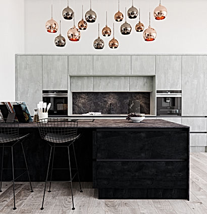 Concrete Kitchen Doors