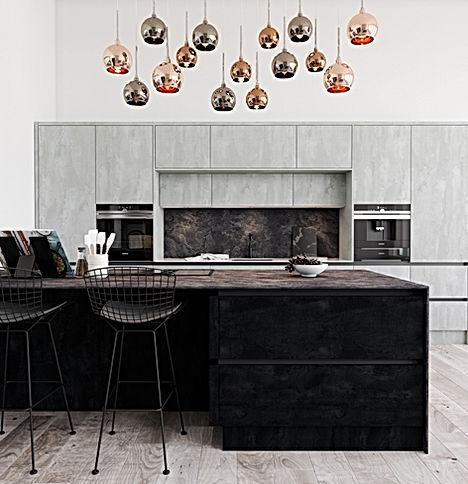 Concrete Kitchen Doors