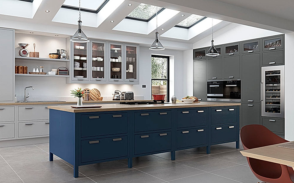 Luscombe Kitchen in Blue and Grey