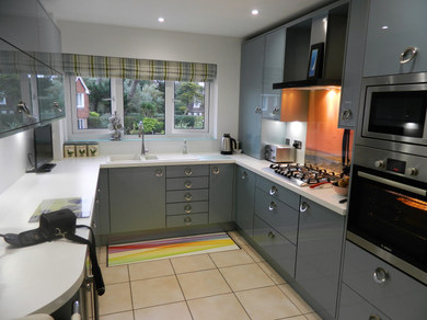 Gloss Grey Kitchen