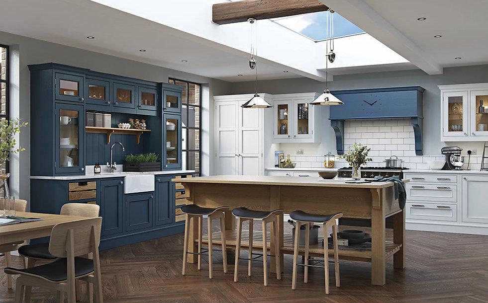 Saltram Kitchen in Blue and White