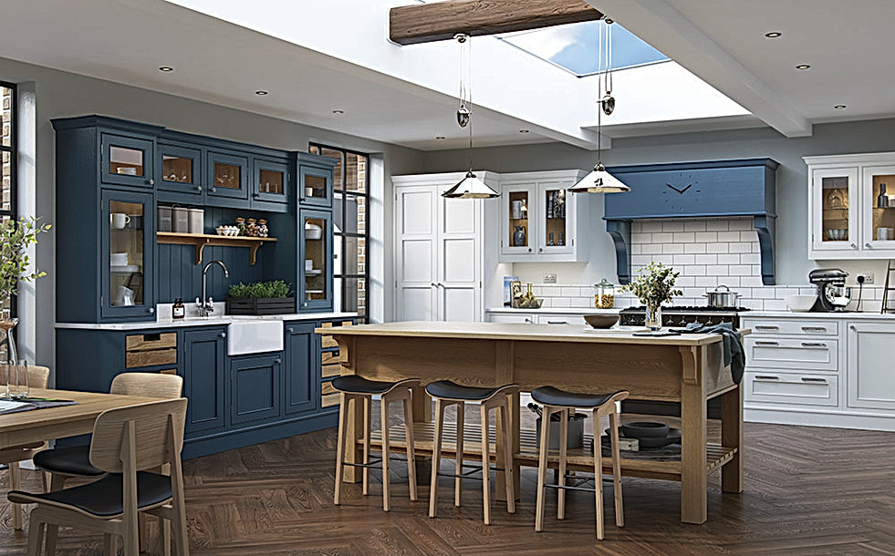 Saltram Kitchen in Blue and White