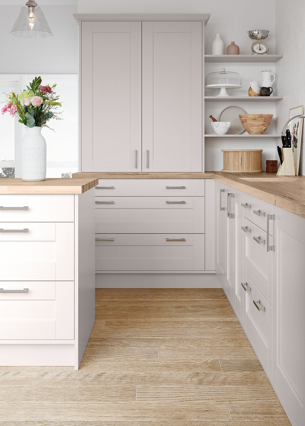 cashmere shaker kitchen