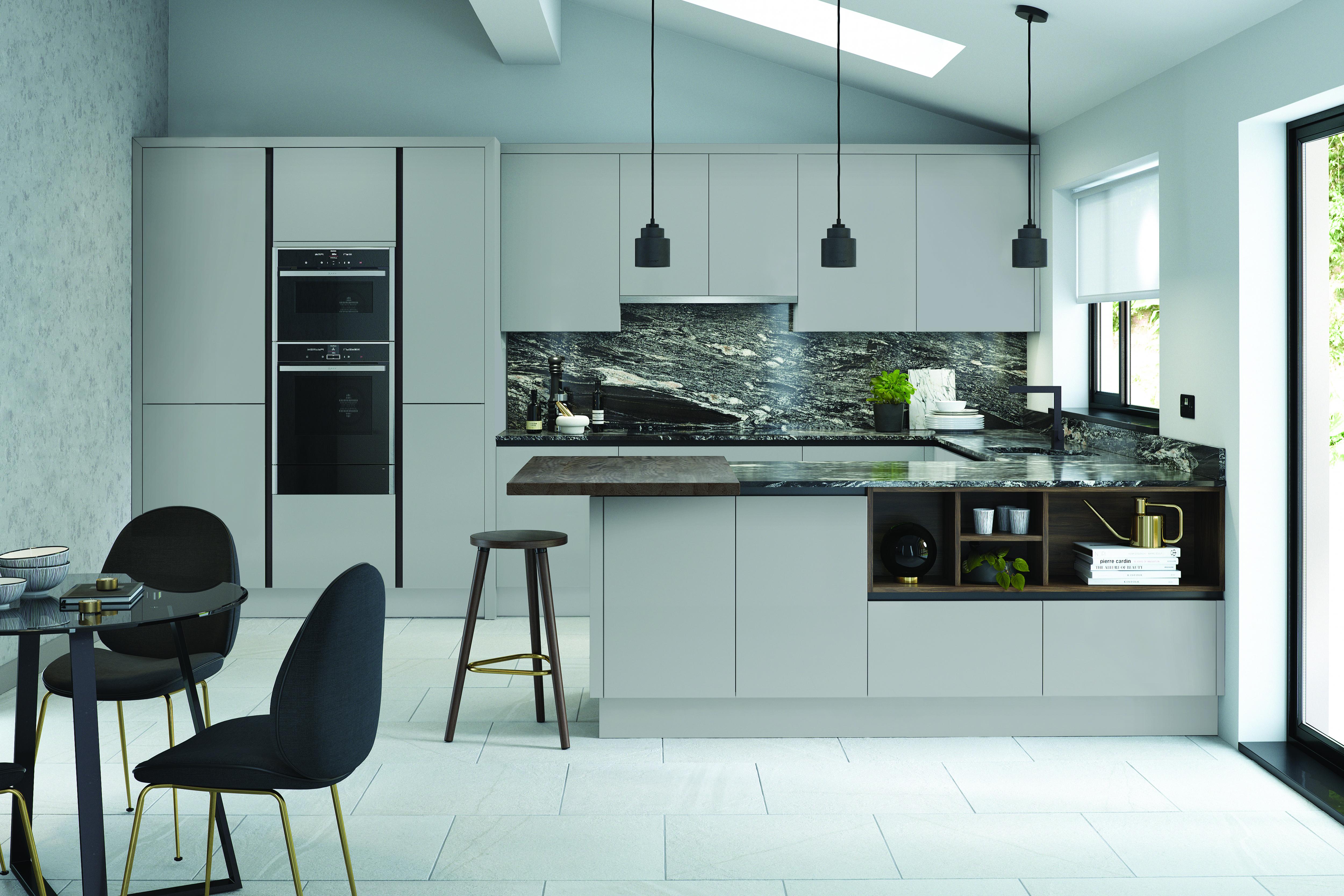 Bellever Kitchen in Matt Silver Grey